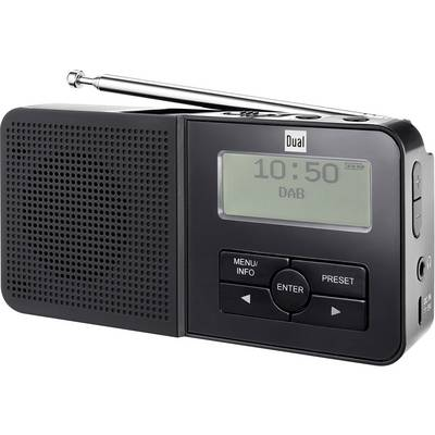 dual dab 5 dab taschenradio dab ukw akku ladefunktion wiederaufladbar schwarz kaufen. Black Bedroom Furniture Sets. Home Design Ideas