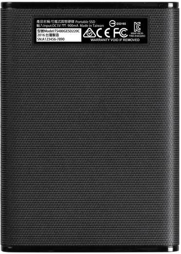 Transcend ESD220C Externe SSD Festplatte 480 GB Schwarz USB 3.1