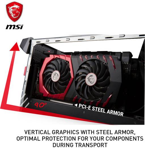 MSI Gaming Aegis 3 VR7RD-019DE Gaming PC Intel Core i7 i7-7700 16 GB 2 TB 256 GB SSD Windows® 10 Home Nvidia GeForce GT