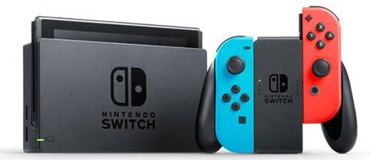 Switch Konsole Grau, Neon-Blau, Neon-Rot