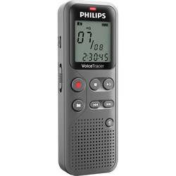 Digitální diktafon Philips DVT1110 Maximální čas nahrávání 23 h antracitová