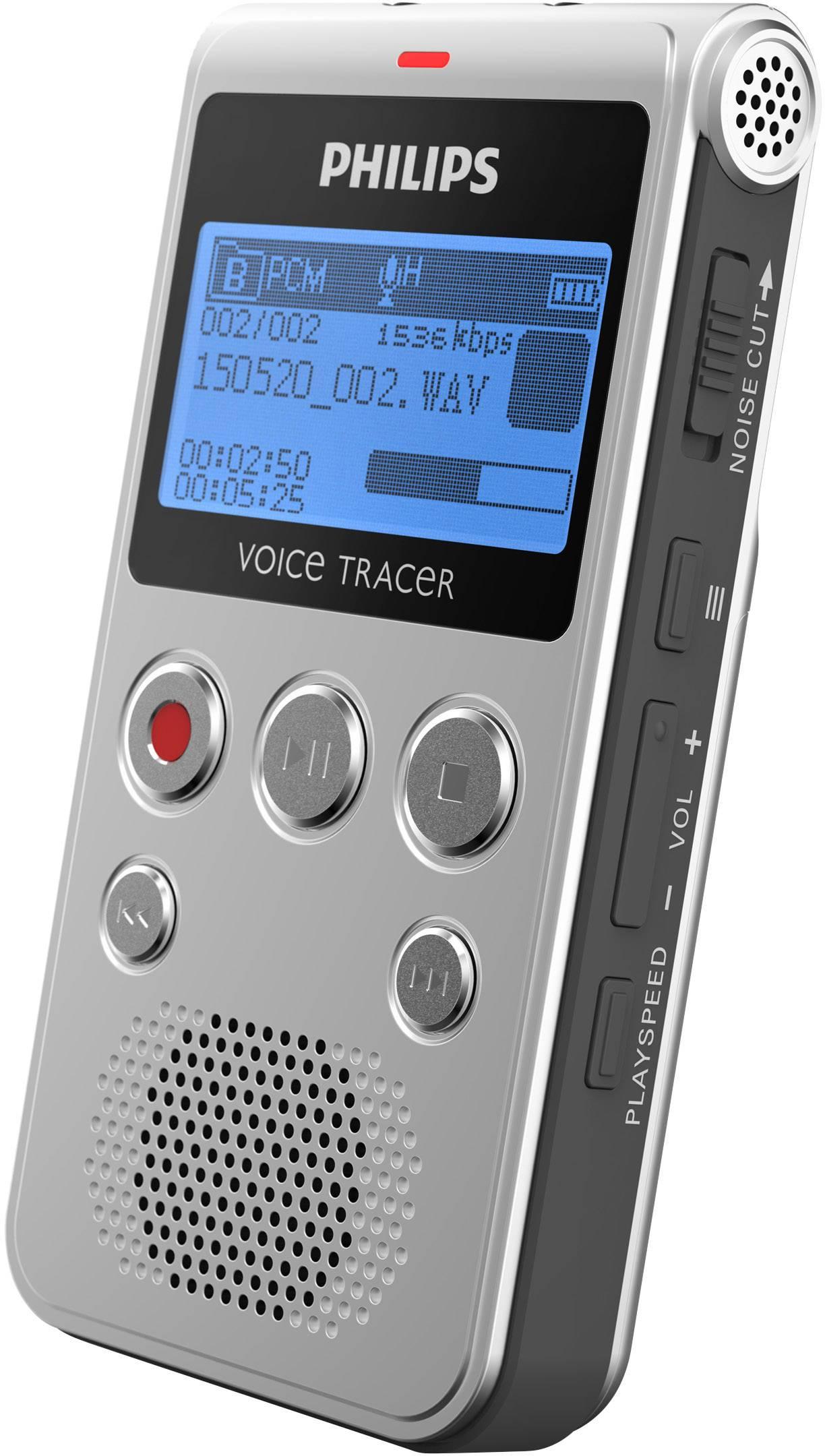 2280 h Anthrazi Philips DVT2510 Digitales Diktiergerät Aufzeichnungsdauer max.