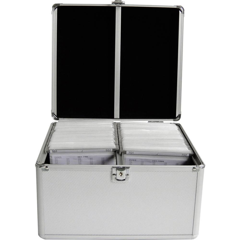MediaRange CD DJ-Case MediaRange voor 300 CD-DVDs silver (BOX76)