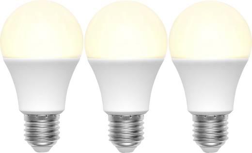 LED E27 Glühlampenform 9 W = 60 W Warmweiß (Ø x L) 60 mm x 110 mm EEK: A+ Basetech 3 St.