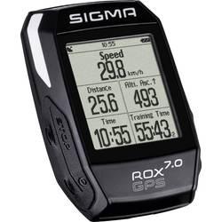 Bezkáblový cyklocomputer Sigma ROX 7.0 GPS Black, kódovaný prenos