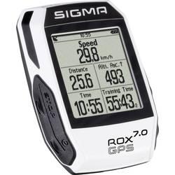 Bezdrátový cyklopočítač Sigma ROX 7.0 GPS white, kódovaný přenos