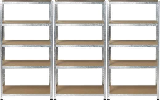 schwerlastregal b x h x t 900 x 1800 x 400 mm metall mdf holzboden basetech kaufen. Black Bedroom Furniture Sets. Home Design Ideas