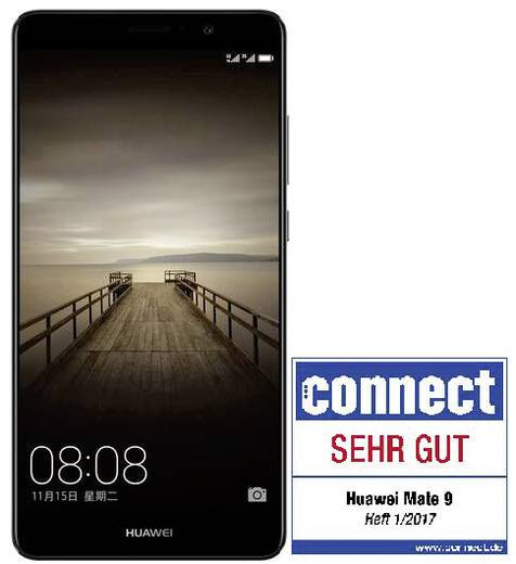 Huawei Mate 9 LTE-Dual-SIM Smartphone 15 cm (5.9 Zoll) 2.4 GHz Octa Core 64 GB 20 Mio. Pixel, 12 Mio. Pixel Android™ 7.0