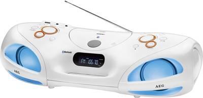 FM Radio CD AEG SR 4371 BT Bluetooth, CD, USB, AUX, FM Bianco