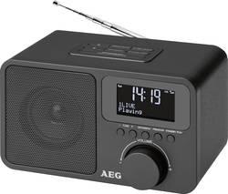 DAB+ stolní rádio AEG DAB+ 4154, DAB+, FM, AUX, černá