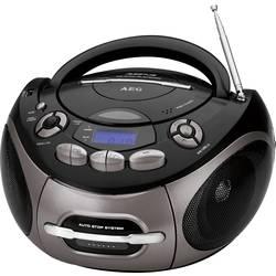 FM rádio s CD prehrávačom AEG SR 4366 CD/MP3/USB, CD, kazeta, UKW, USB, AUX, čierna, titan