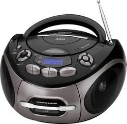 Radio-CD FM AEG SR 4366 CD/MP3/USB noir, titane