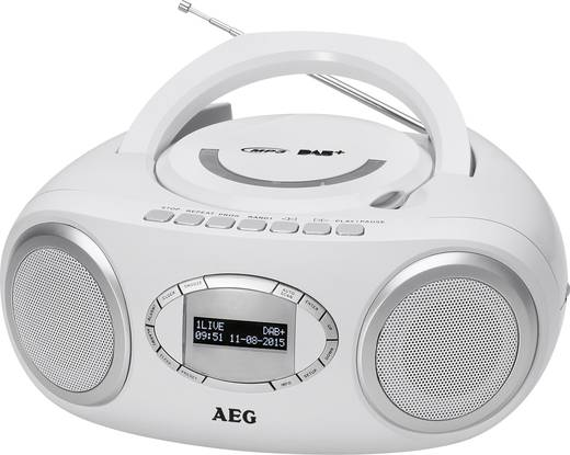 dab cd radio aeg sr 4370 dab ukw usb cd wei. Black Bedroom Furniture Sets. Home Design Ideas