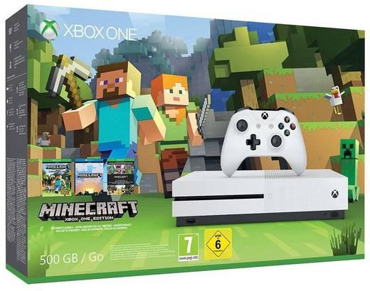 Microsoft Xbox One S 500 GB Weiß inkl. Minecraft