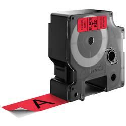 Páska do štítkovače DYMO 53717, 24 mm, 7 m, černá, červená