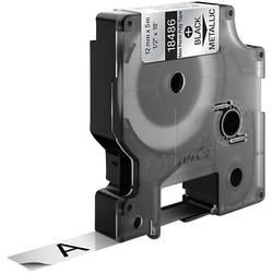 Páska do štítkovače DYMO 18486, 12 mm, 5.5 m, černá, metalická