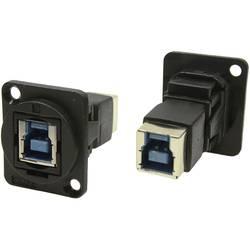 Zásuvka USB 3.0 typ B adaptér, vstavateľný Cliff CP30204N, čierna, 1 ks