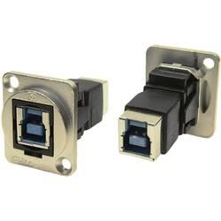 Zásuvka USB 3.0 typ B adaptér, vstavateľný Cliff CP30204NM, niklová, 1 ks