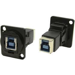 Zásuvka USB 3.0 typ B adaptér, vstavateľný Cliff CP30204NMB, čierna, 1 ks