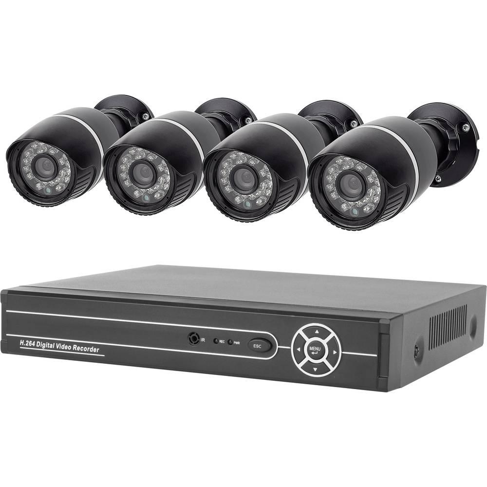 elro analog cctv camera set 4 channel incl 4 cameras from. Black Bedroom Furniture Sets. Home Design Ideas