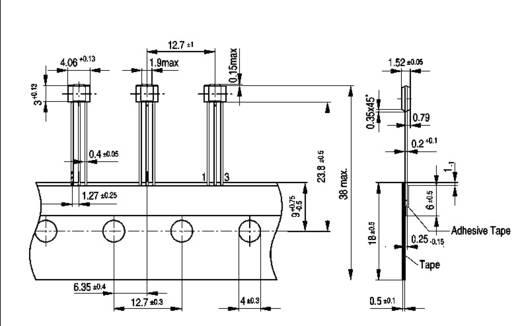 Hallsensor Infineon Technologies TLE 4905 L 3.5 - 24 V/DC Messbereich: +7 - +18 mT PSSO-3-2 Löten