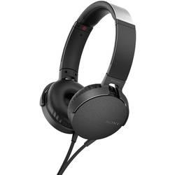 Hi-Fi slúchadlá Over Ear Sony MDR-XB550AP MDRXB550APB.CE7, čierna