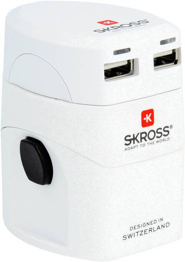 Reiseadapter World Adapter EVO USB Skross 1.302101