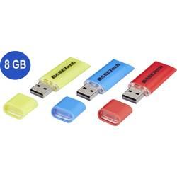 USB flash disk Basetech USB-Stick-8GB BT-1538092, 8 GB, USB 2.0, žltá, modrá, červená