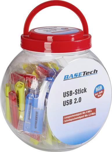 USB-Stick 16 GB Basetech Gelb, Blau, Rot USB 2.0 1 St.