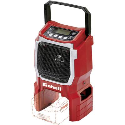 Einhell Power X-Change TE-CR 18 Li - Solo UKW Baustellenradio, Outdoorradio AUX Rot Preisvergleich