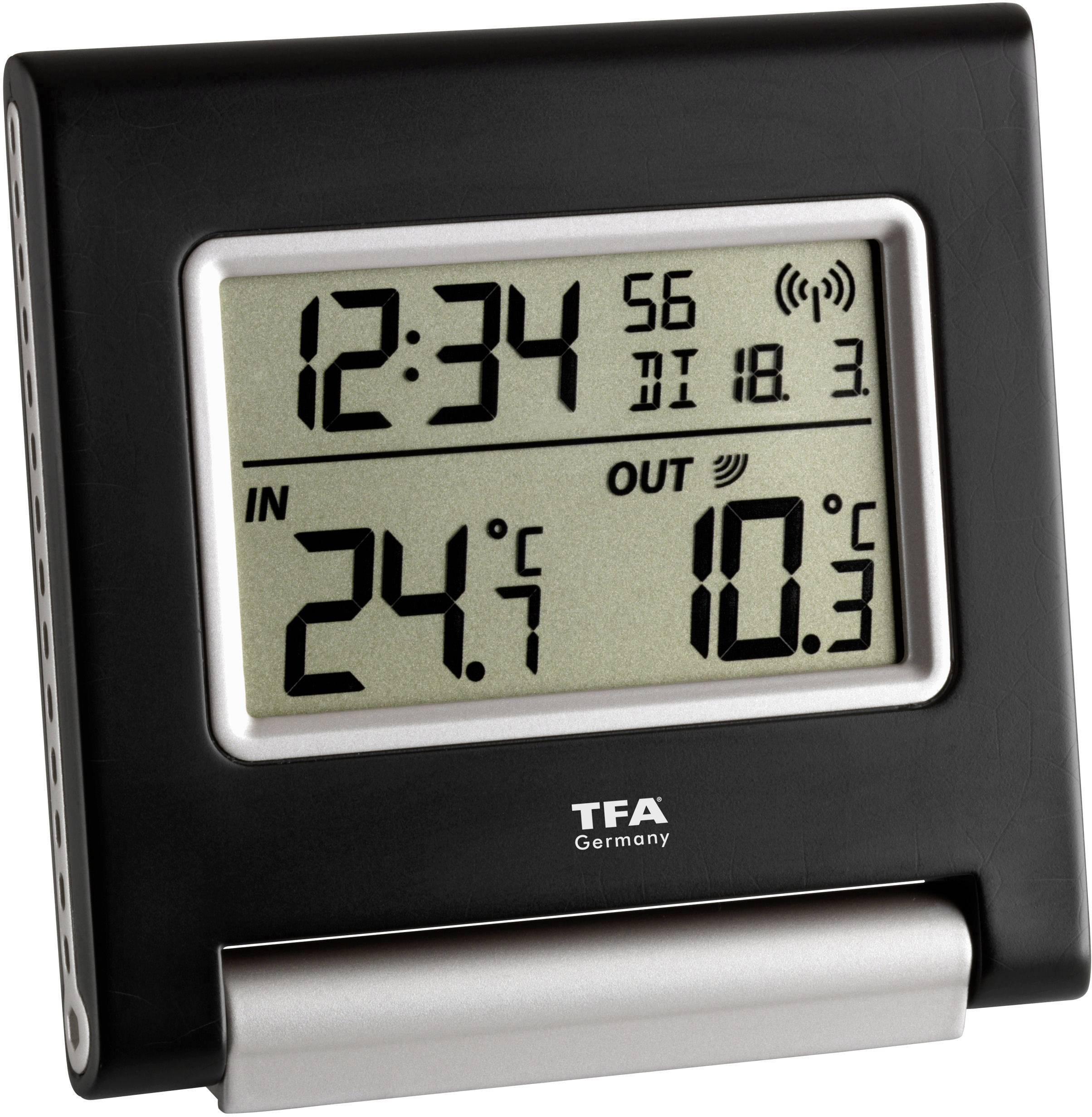 Techno Line WS 9767 Funk-Thermometer Schwarz