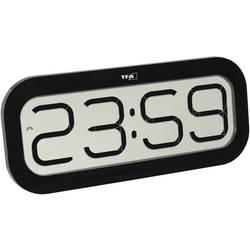 DCF nástenné hodiny TFA Dostmann BimBam 60.4514.01, čierna