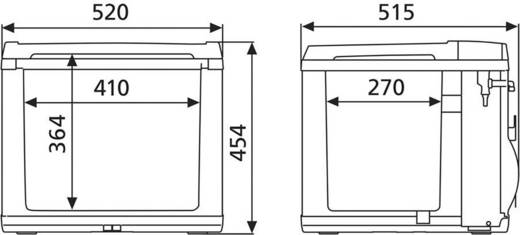 Dometic Group CoolFun CK 40D Kühlbox EEK=A+ (A+++ - D) Hybrid (Kompressor & Thermoelektrisch) Schwarz 38 l