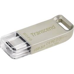 USB flash disk Transcend JetFlash® 850, 64 GB, strieborná