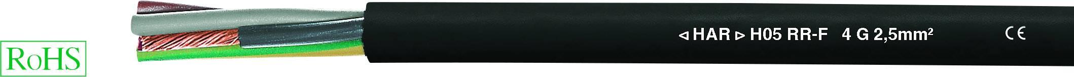 H05RR-F 5x2,5mm² Gummischlauchleitung schwarz 50 Meter Ring