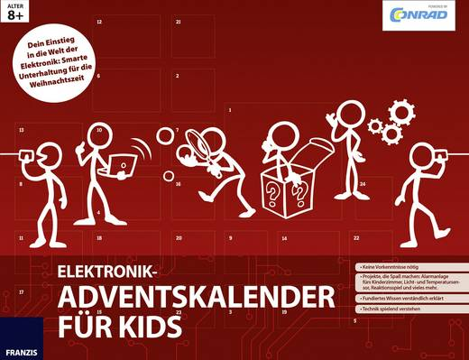 Adventskalender Conrad Components Elektronik-Adventskalender für Kids Experimente, Bausätze ab 8 Jahre