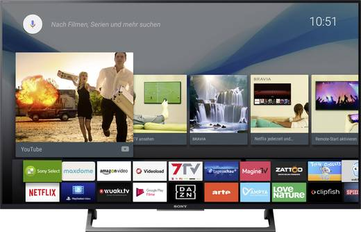 sony kd43xe8005 led tv 108 cm 43 zoll eek a a e dvb. Black Bedroom Furniture Sets. Home Design Ideas