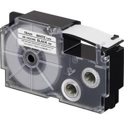 Popisovací páska extra lepicí, zle opětovně odstranit Casio XR-18GCWE, 18 mm, 8 m, černá, bílá
