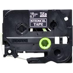 Šablona popisovací pásky Brother STe-141, 18 mm, 3 m, bílá, transparentní