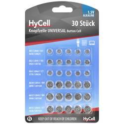 Sada knoflíkových batérií alkalicko-mangánová HyCell Knoopcellenset 5015473-510, 30 ks