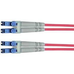 Optické vlákno LWL prepojovací kábel Telegärtner L00872A0002 [1x zástrčka LC - 1x zástrčka LC], 3.00 m, žltá