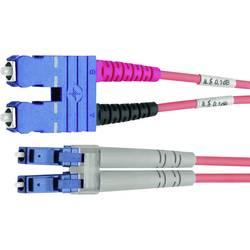 Optické vlákno LWL prepojovací kábel Telegärtner L00890A0080 [1x zástrčka SC - 1x zástrčka LC], 1.00 m, fialová