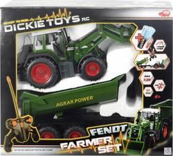RC funkční model Dickie Toys 201119266 – zemědělské vozidlo Fendt, sada Farmář, 1:20, RtR