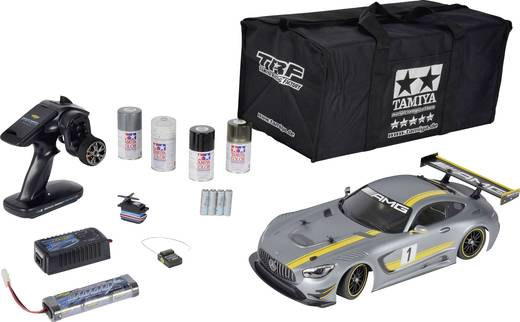 tamiya mercedes amg gt3 brushed 1 10 rc modellauto elektro stra enmodell allradantrieb spar set. Black Bedroom Furniture Sets. Home Design Ideas
