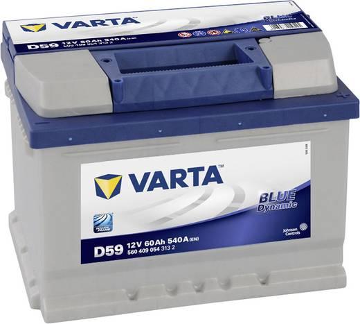 autobatterie varta automotive blue dynamic 12 v 60 ah etn. Black Bedroom Furniture Sets. Home Design Ideas