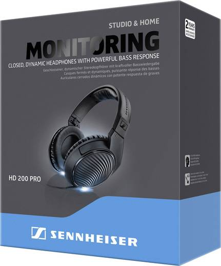 sennheiser hd 200 pro studio kopfh rer over ear noise. Black Bedroom Furniture Sets. Home Design Ideas