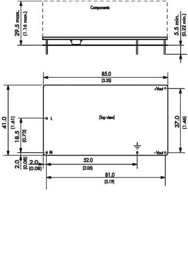 AC/DC-Printnetzteil TracoPower TOM 25124 24 V/DC 1.1 A 25 W