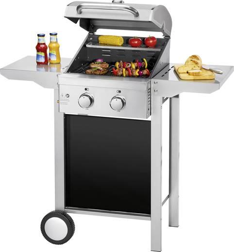 grillwagen gas grill profi cook pc gg1128 2 brenner silber matt kaufen