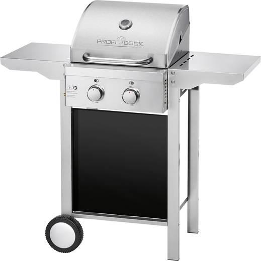 grillwagen gas grill profi cook pc gg1128 2 brenner silber matt kaufen. Black Bedroom Furniture Sets. Home Design Ideas