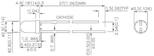 IR-Emitter 940 nm 50 ° 3 mm radial bedrahtet Kingbright L-934F3C